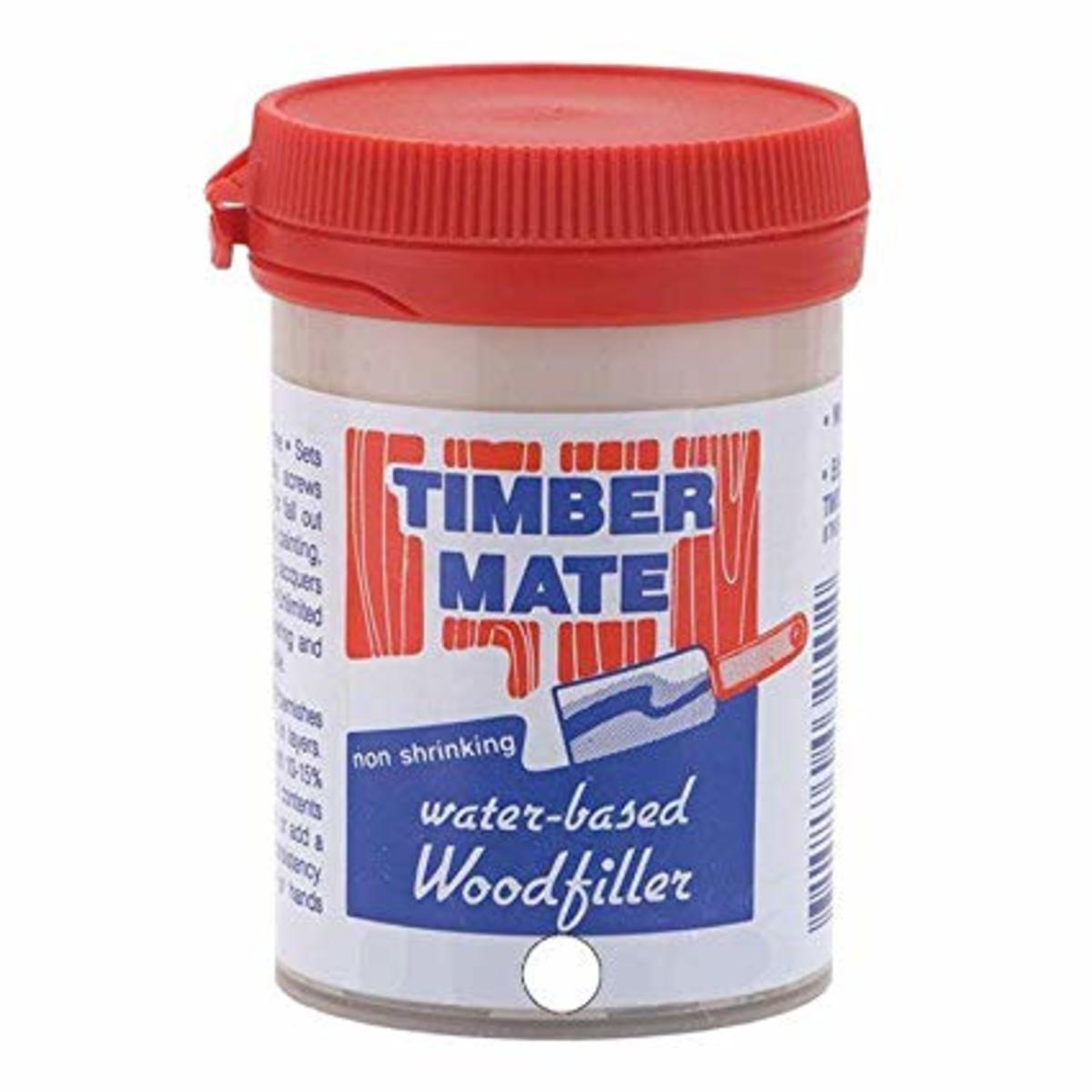 An 8 ounce container of Timbermate wood filler
