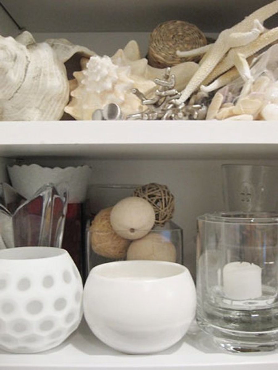 Carve out a designated spot for your home accessories like a closet, cabinet or even shelves in the garage.