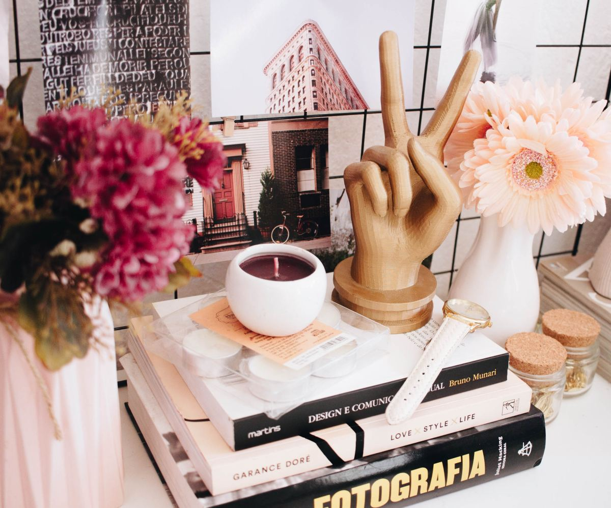Use books as decorative accessories or functional objects.