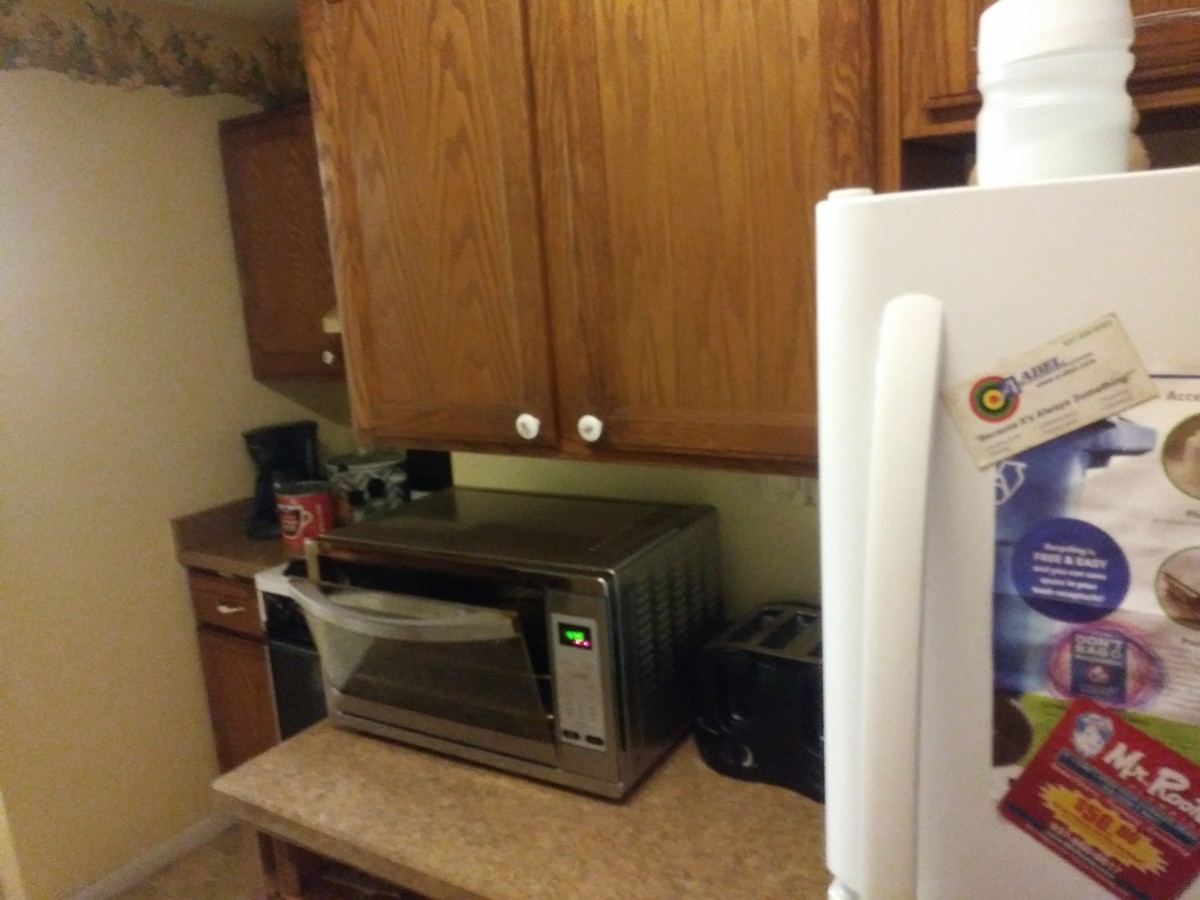 Oster digital convection oven in my kitchen.
