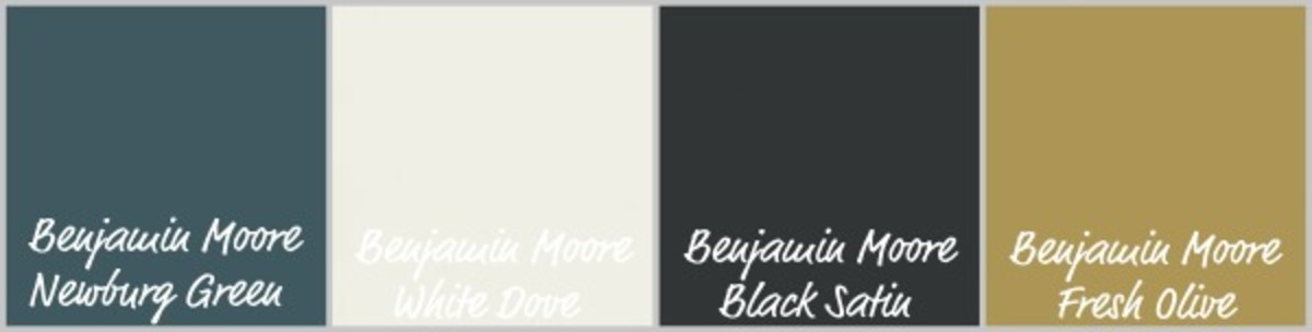 These masculine paint colors could be the basis of his room's color palette.