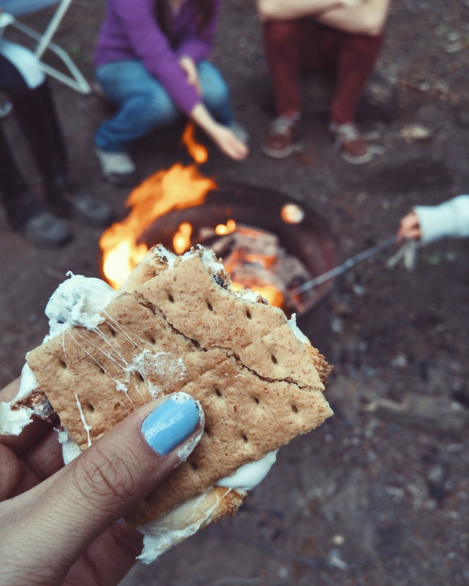 After waiting two days for the glue to set, you're good to go and make all the s'mores you want!