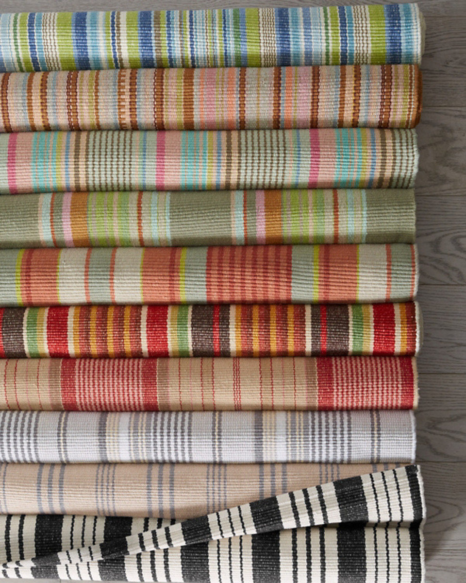 Cotton rugs can be fun and colorful, plus fairly durable and easy to clean.