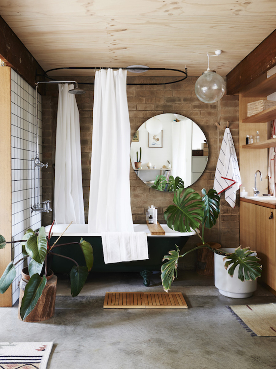 Earthy Flora Bathroom