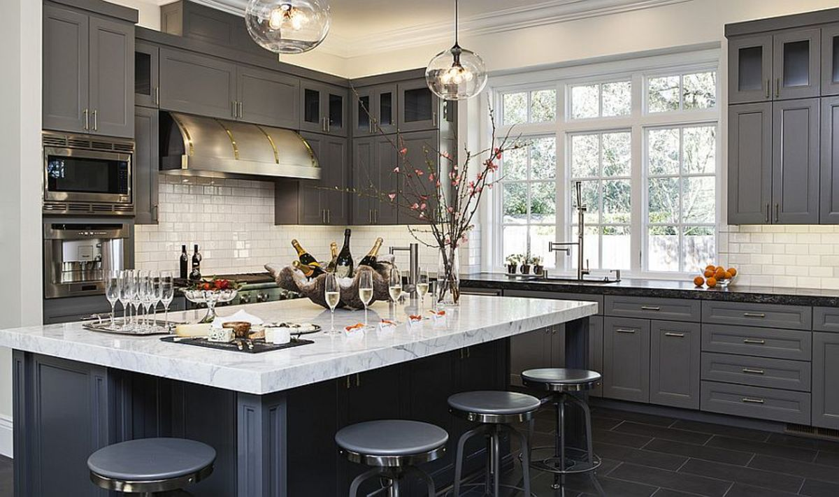 The gray kitchen