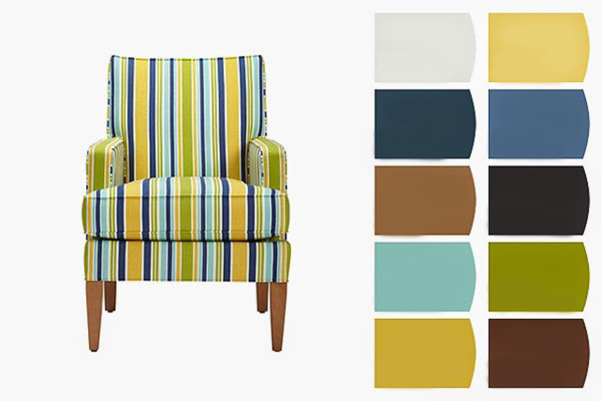 Use a piece of furniture as the centerpiece of your room's color scheme. This chair will lend a springtime air to a dark space lacking in natural light.