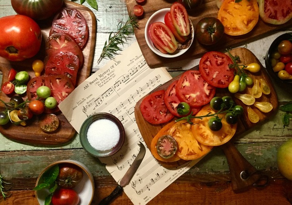 Heirloom tomatoes come in all sorts of shapes, sizes and colors.