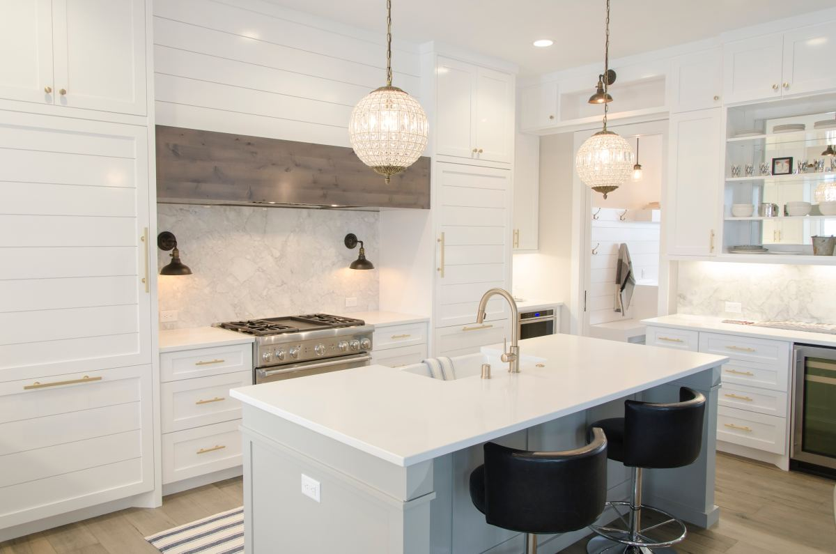Kitchen pendants are perfect above an island to add task lighting.