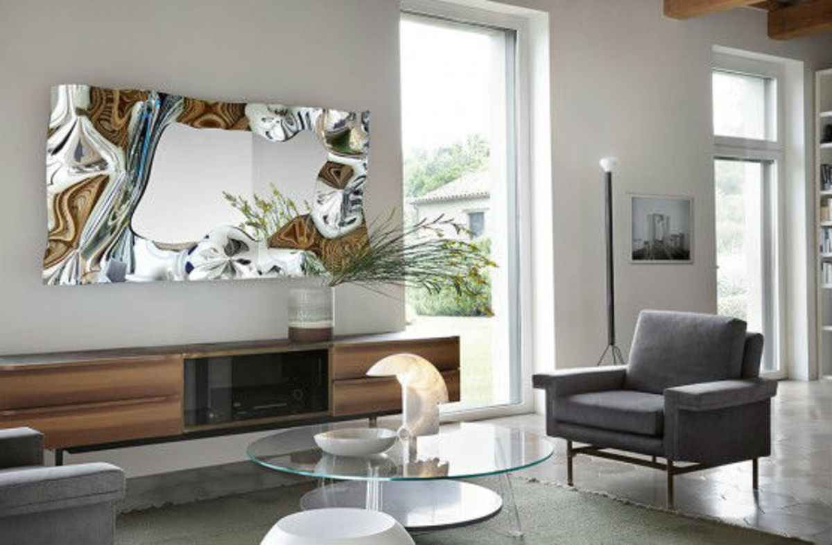 Furniture with clean lines and smooth surfaces give a room that contemporary look and feel.