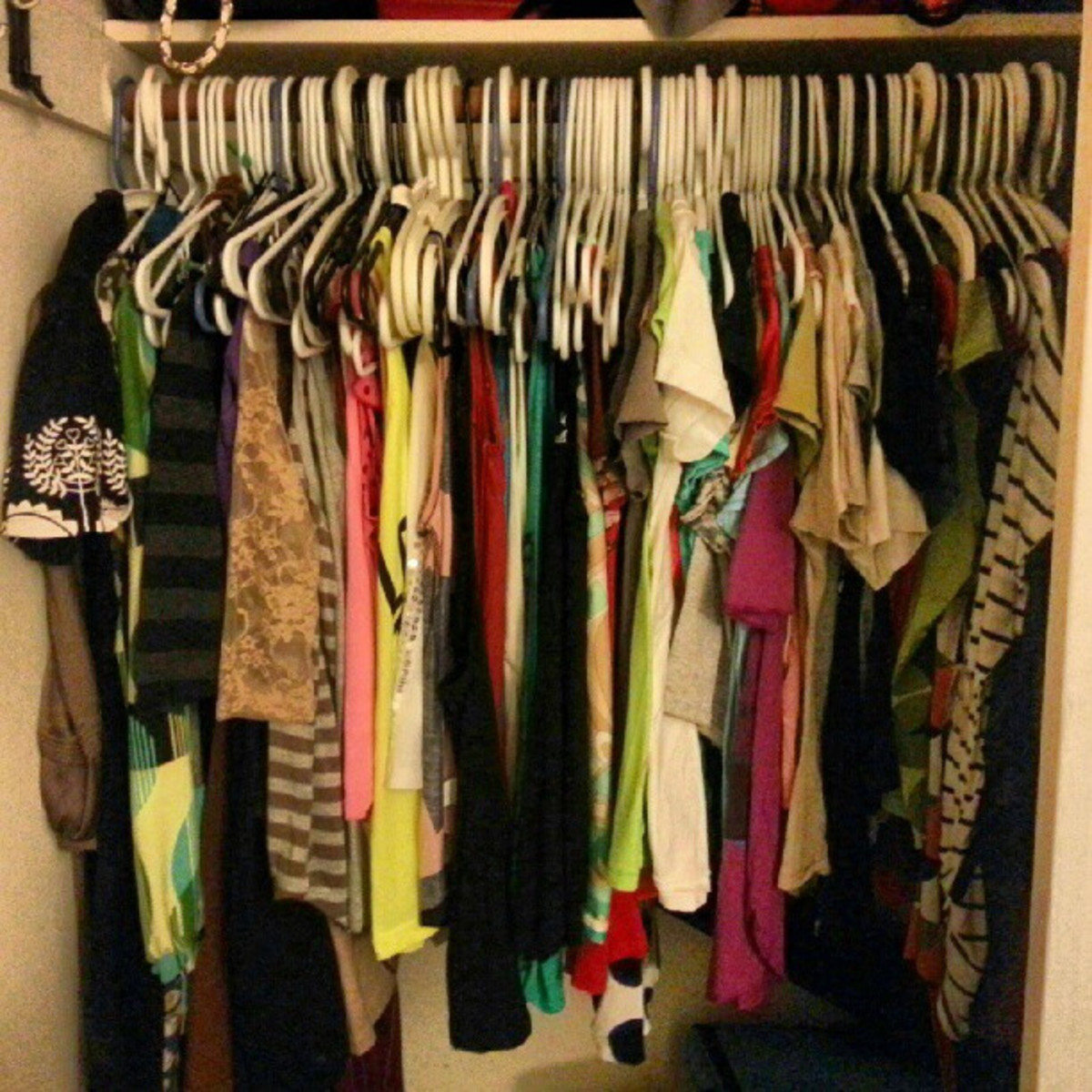 Every day take a look in the closet and get rid of a clothing item you never wear.