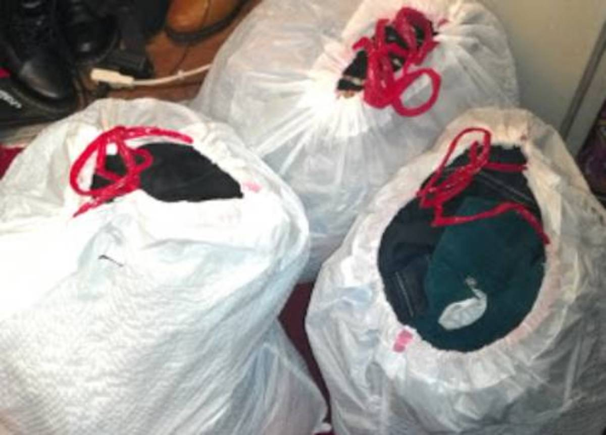 Filling up one trash bag at a time makes you feel like you've accomplished a small part of  decluttering.