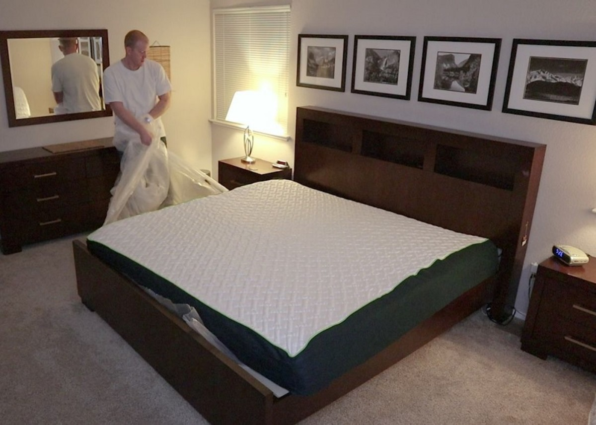 Remove last layer of plastic and allow the bed to sit at least three hours to make sure it has fully expanded.