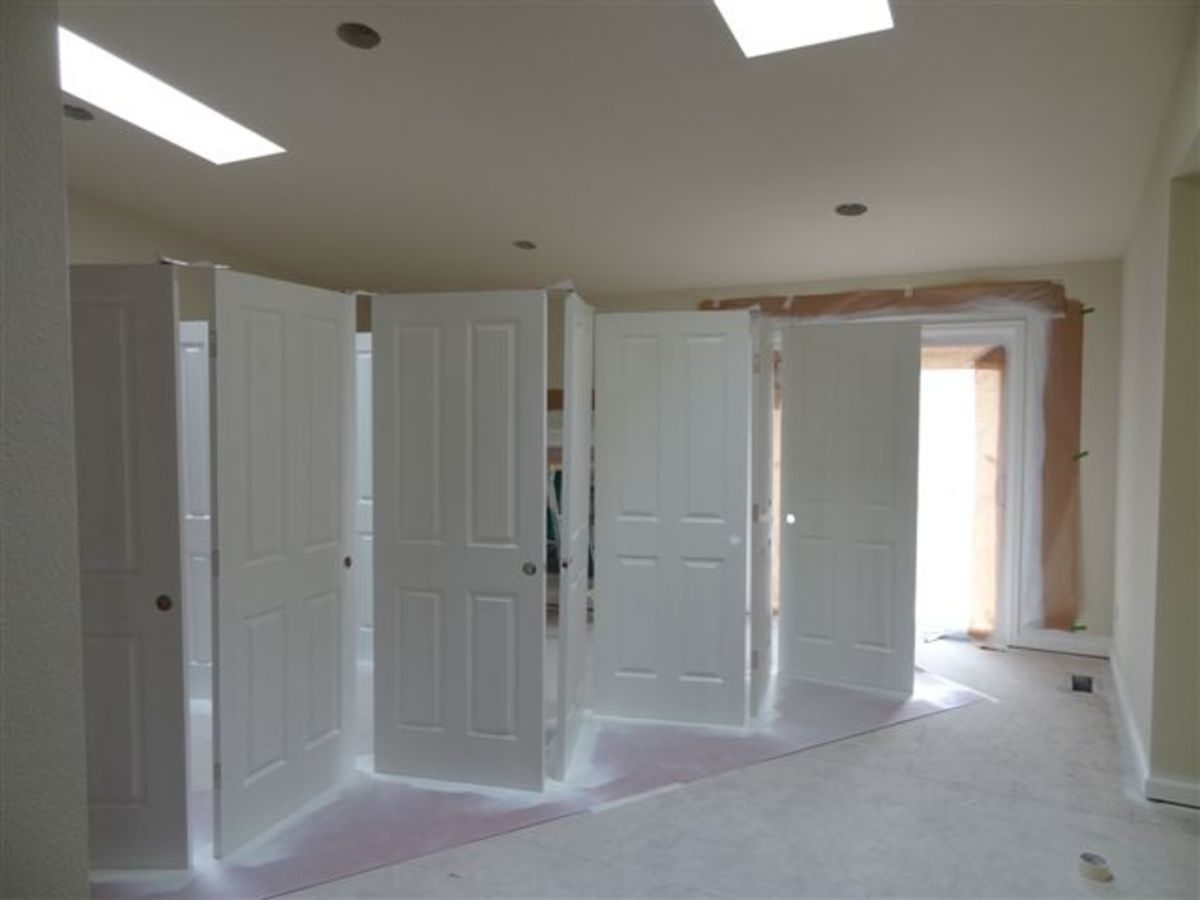 How to use a sprayer to paint doors.