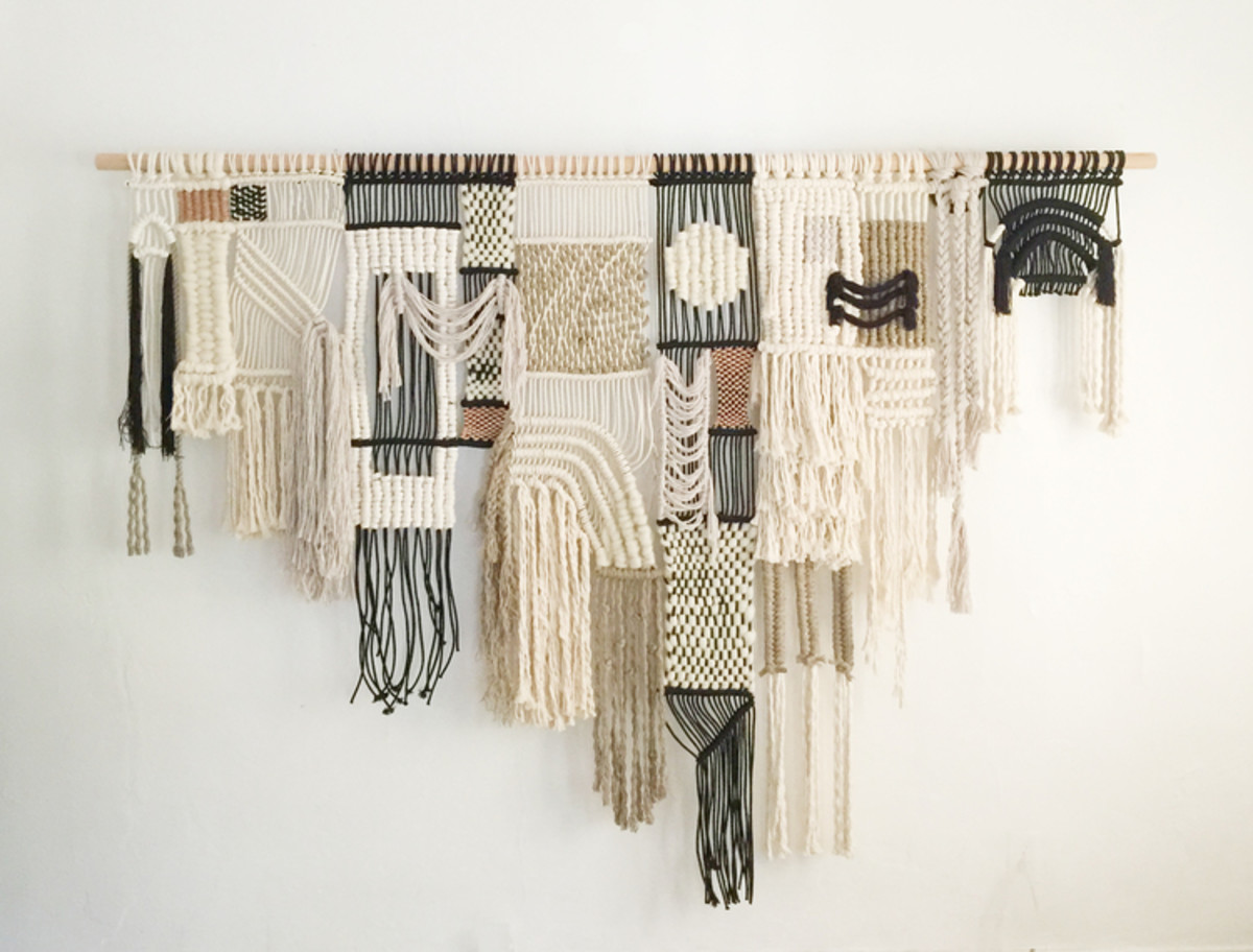 Macrame wall hangings can be very simple or extremely complicated.