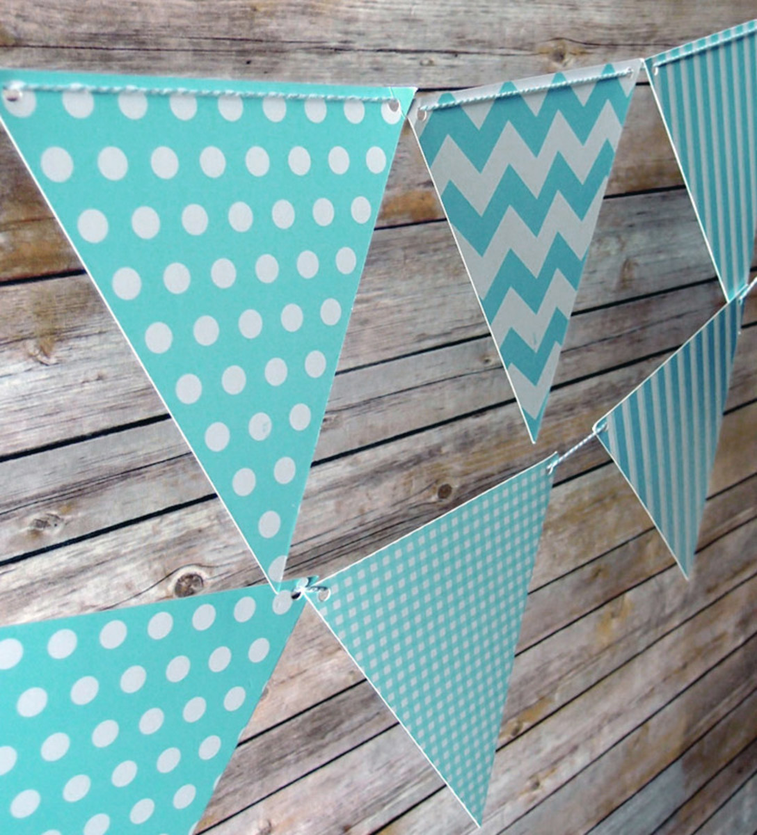Pennant banners are an easy and cheap way to decorate the walls in your child's room
