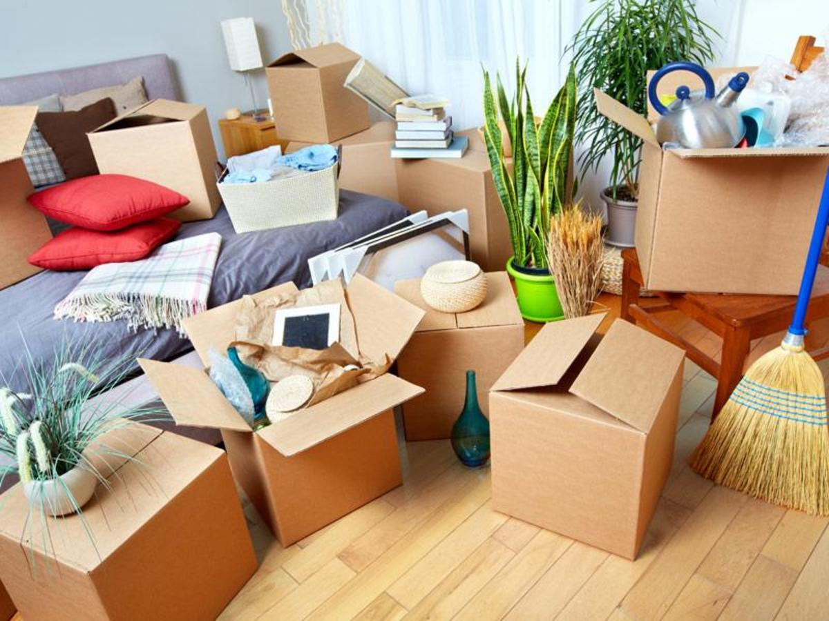 Box up the items you don't need and store them away in the basement or donate them to a charitable organization.
