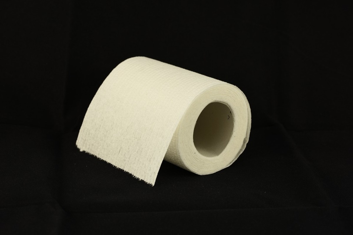 Toilet paper, especially the quilted type, should always be used in moderation to avoid clogs.