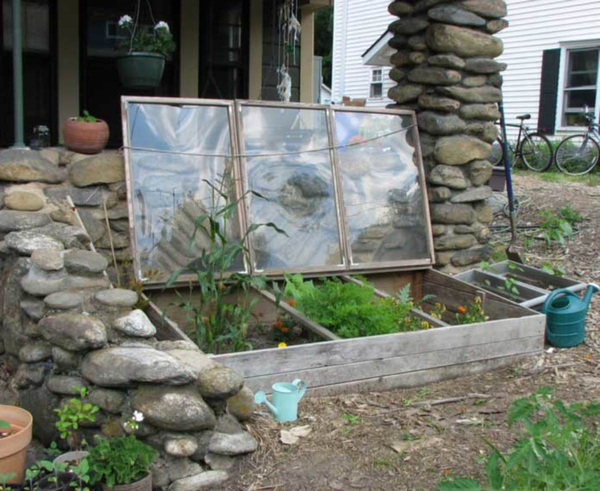 A homemade cold frame is just as effective as one you pay a lot of money for.  A bottomless wooden box covered with an old window will work great.