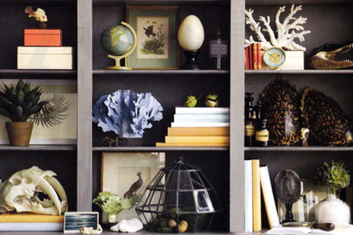 Objects that have different textures, shapes and sizes create visual interest.