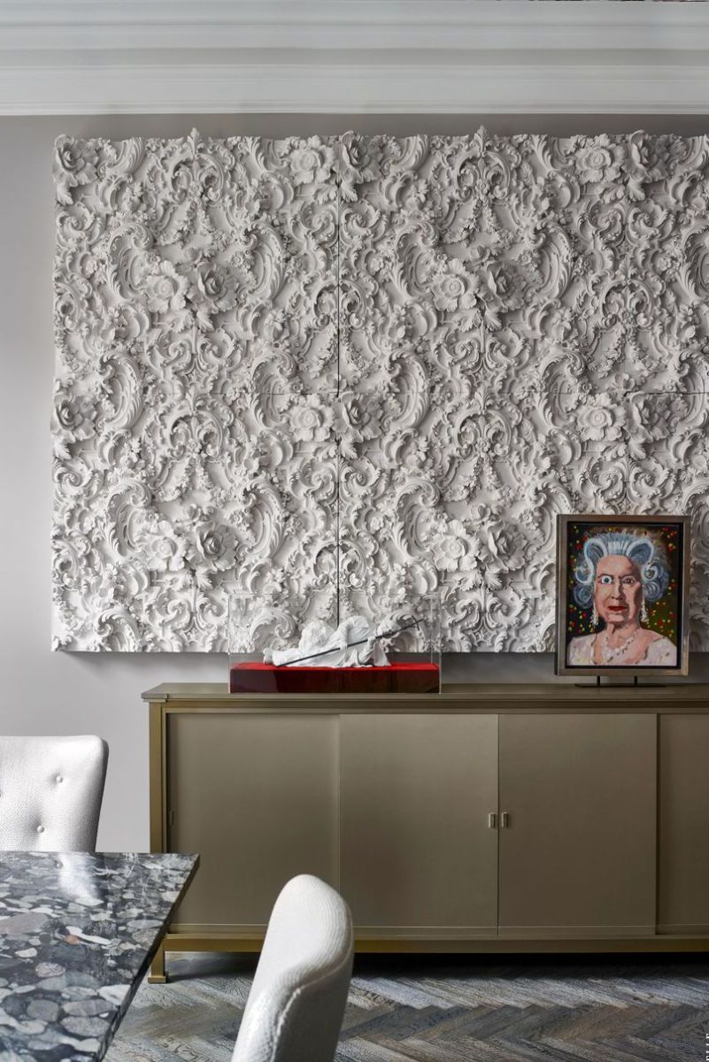 This textural wall art creates interest without having to add color.