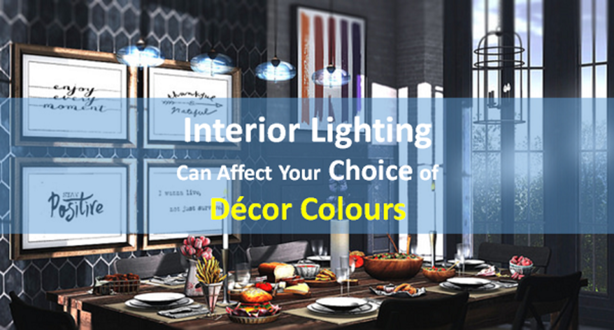 How Interior Lighting Can Affect Your Choice of Décor Colours