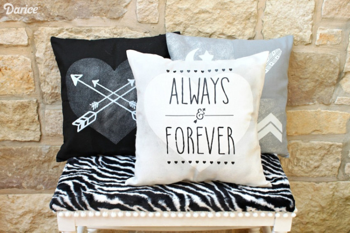 Iron-on transfers are so easy to decorate pillow covers.