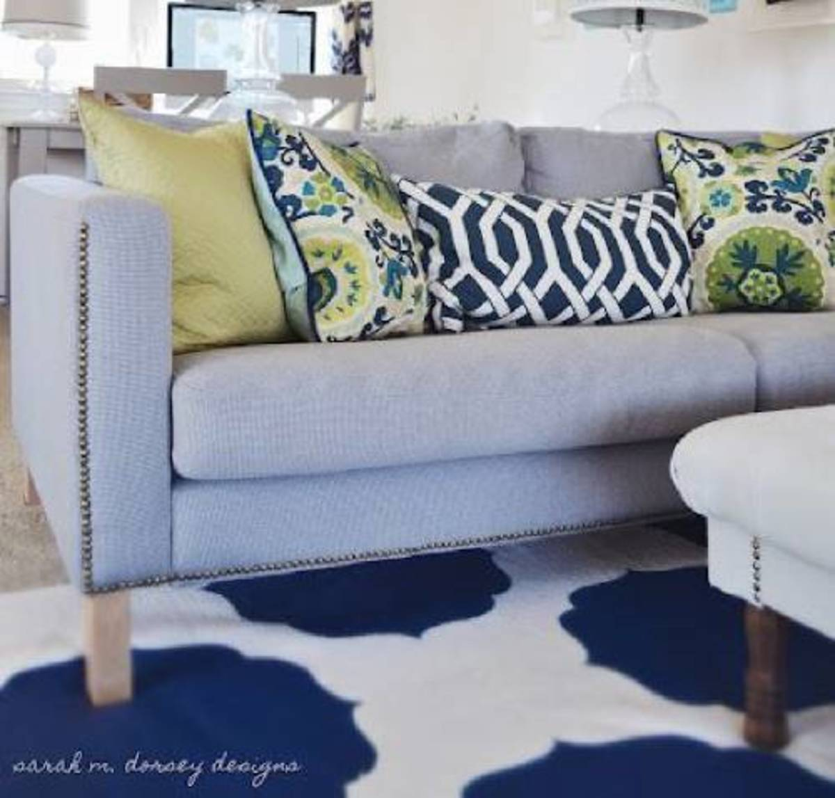 Nailhead trim can give virtually any sofa a trendy look.