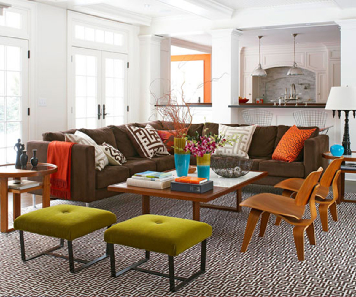 Gradually bring in furniture pieces to create a livable space.