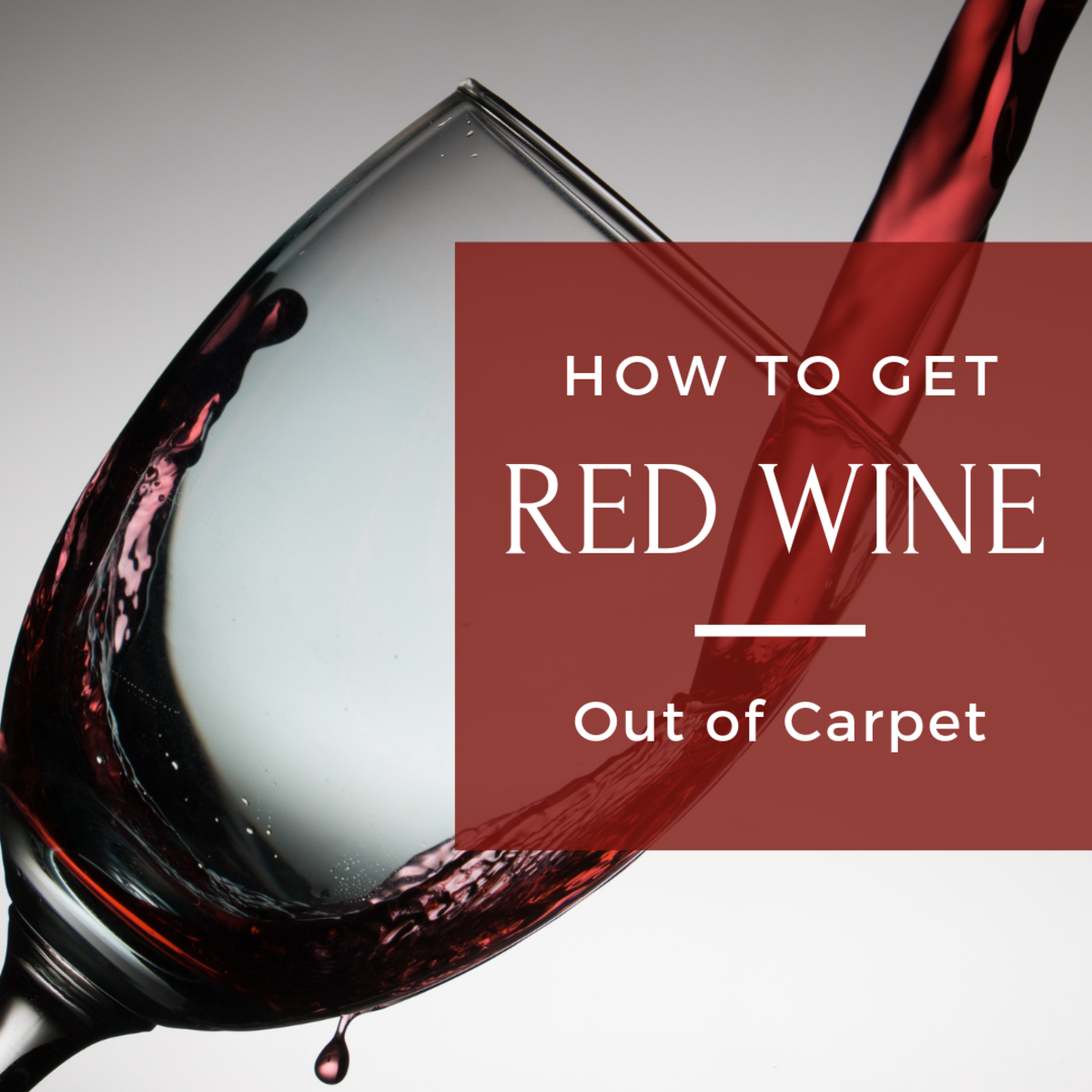 How to get red wine out of carpet.