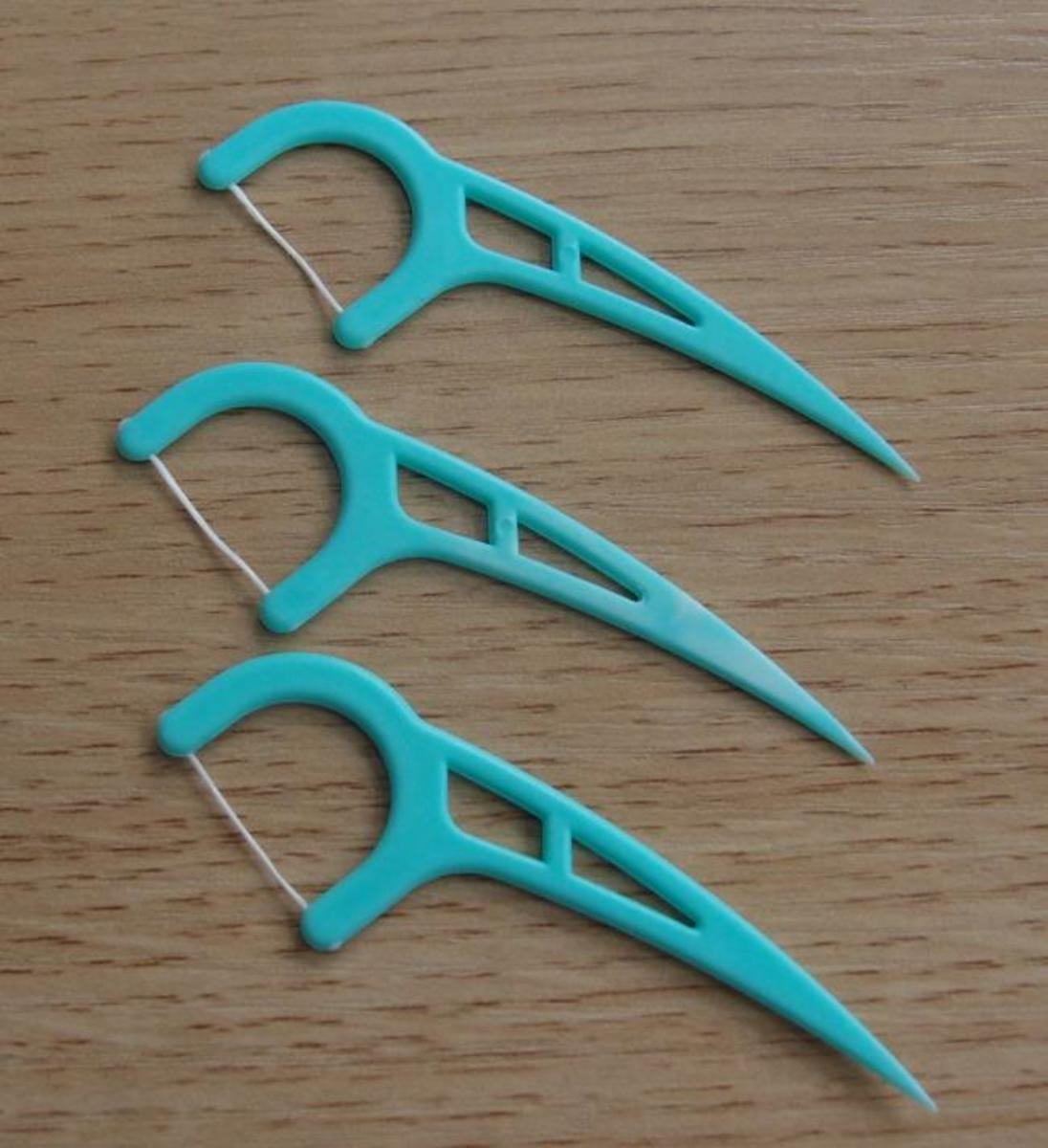 Disposable Plastic Flossers
