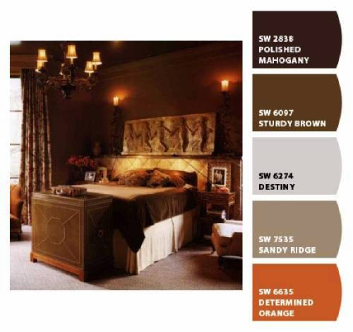 Rich earthy colors are a large part of old world elegance.
