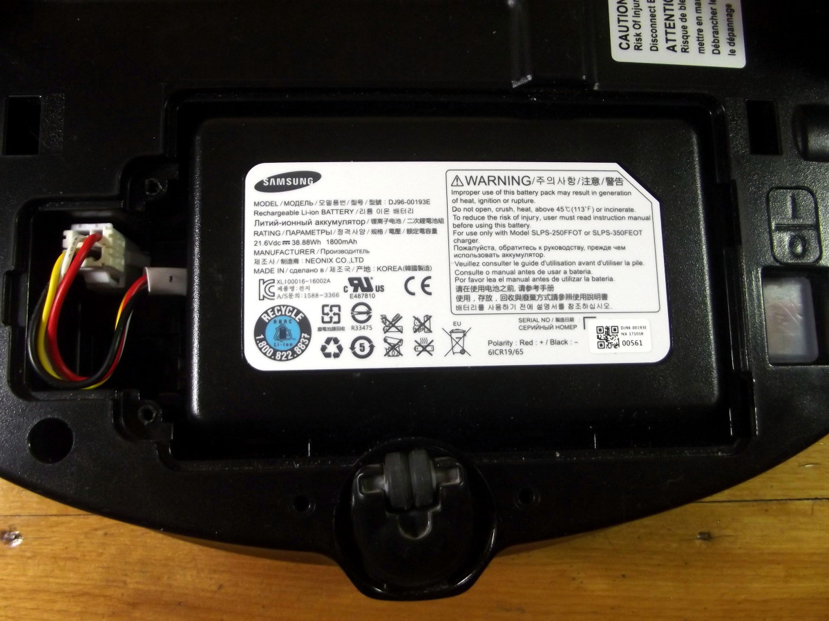 Battery of Samsung Powerbot R7040 robotic vacuum