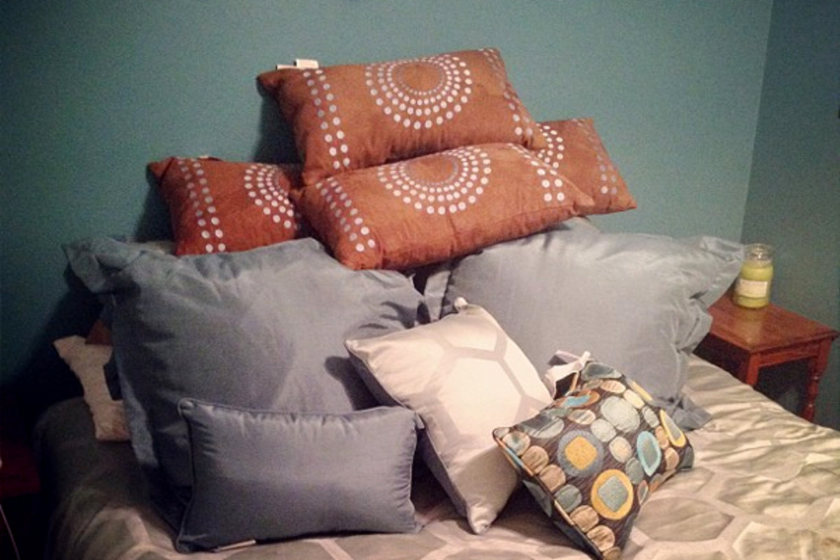 Add a bunch of throw pillows on the bed or around the floor for a cool lounge area.