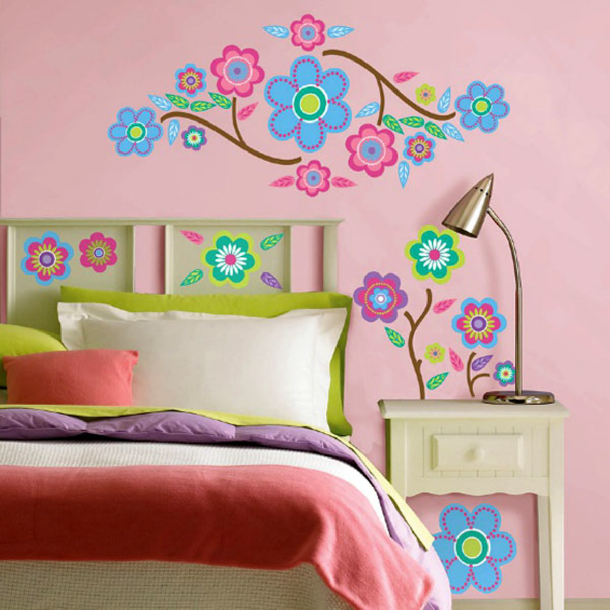 Wall decals are an easy way to create art that can be moved around  or replaced with another design.