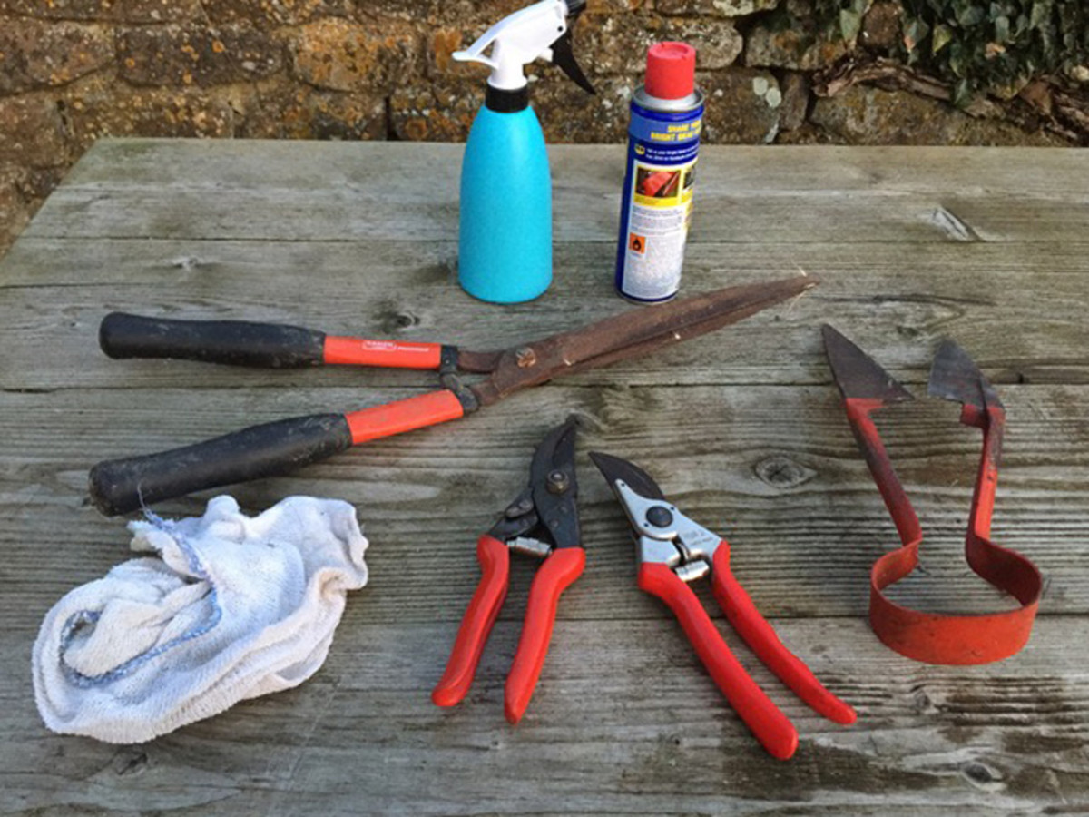 Remember to clean, sharpen and oil your garden tools before your store them away during the winter.