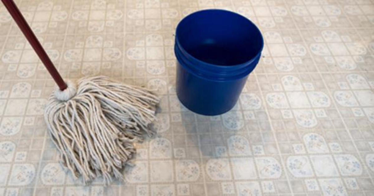 Use a damp mop with a mild floor cleaner.