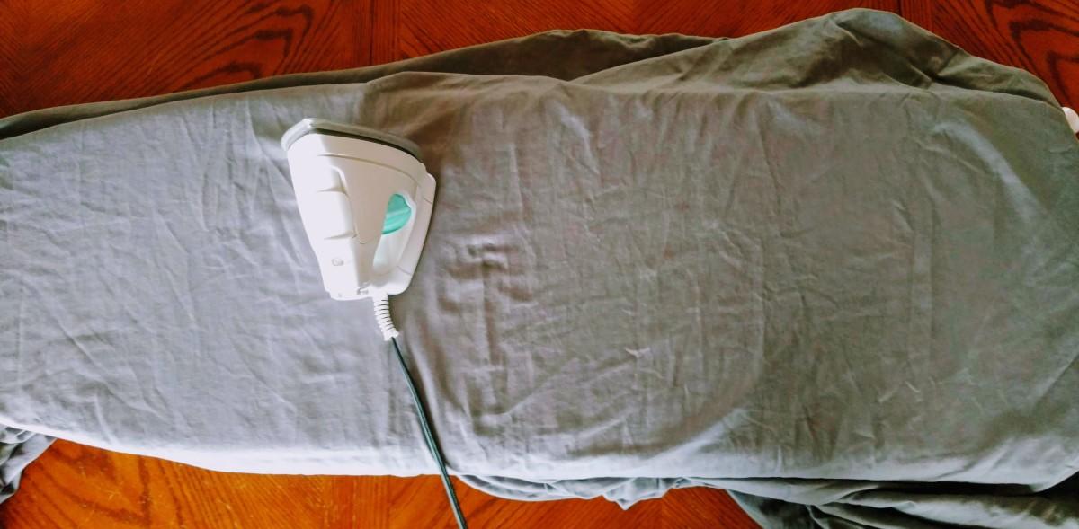 Ironing the primer sheet.