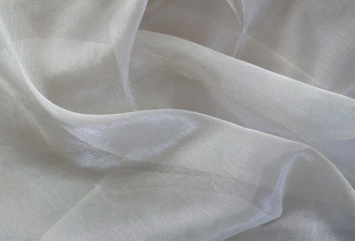Silk organza is lightweight and has a crisp hand that creates a structured form for curtains.