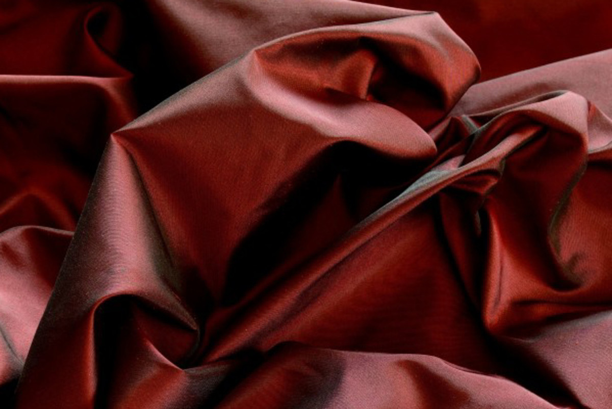 Taffeta curtains have the look of a formal ballgown.