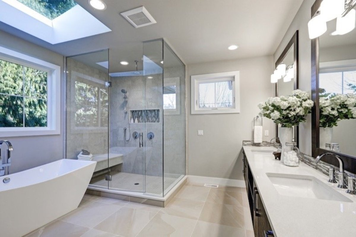 It is great to have a bathroom window that adds natural light.