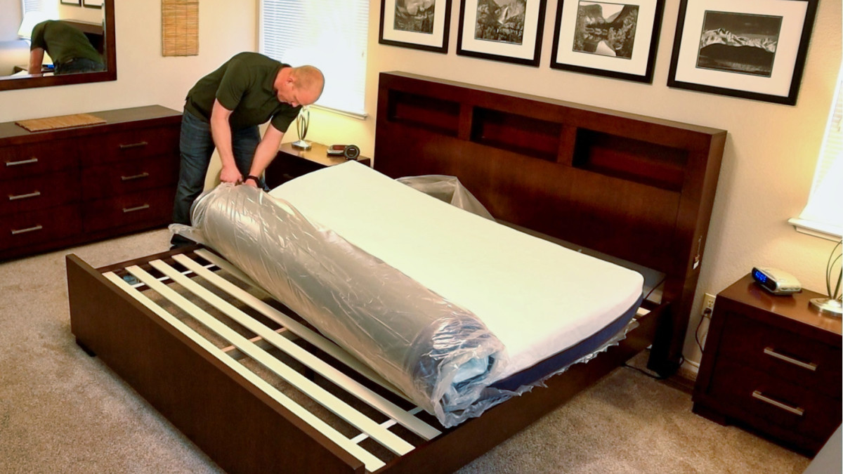 You just need to carefully cut it open and unroll the mattress. It'll start expanding immediately (follow the instructions inside the box).