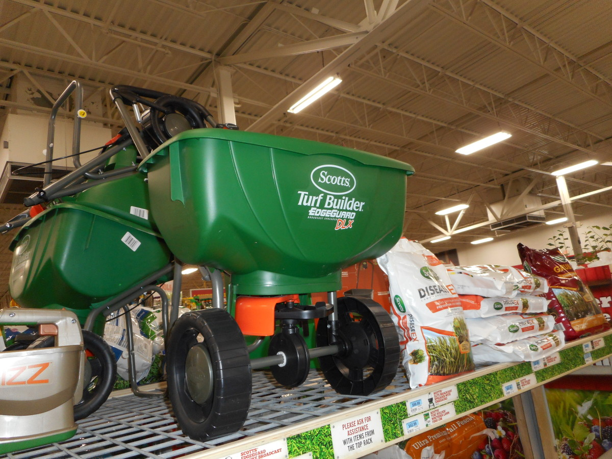 A spreader on wheels is good for sea minerals on a lawn or a larger garden area.