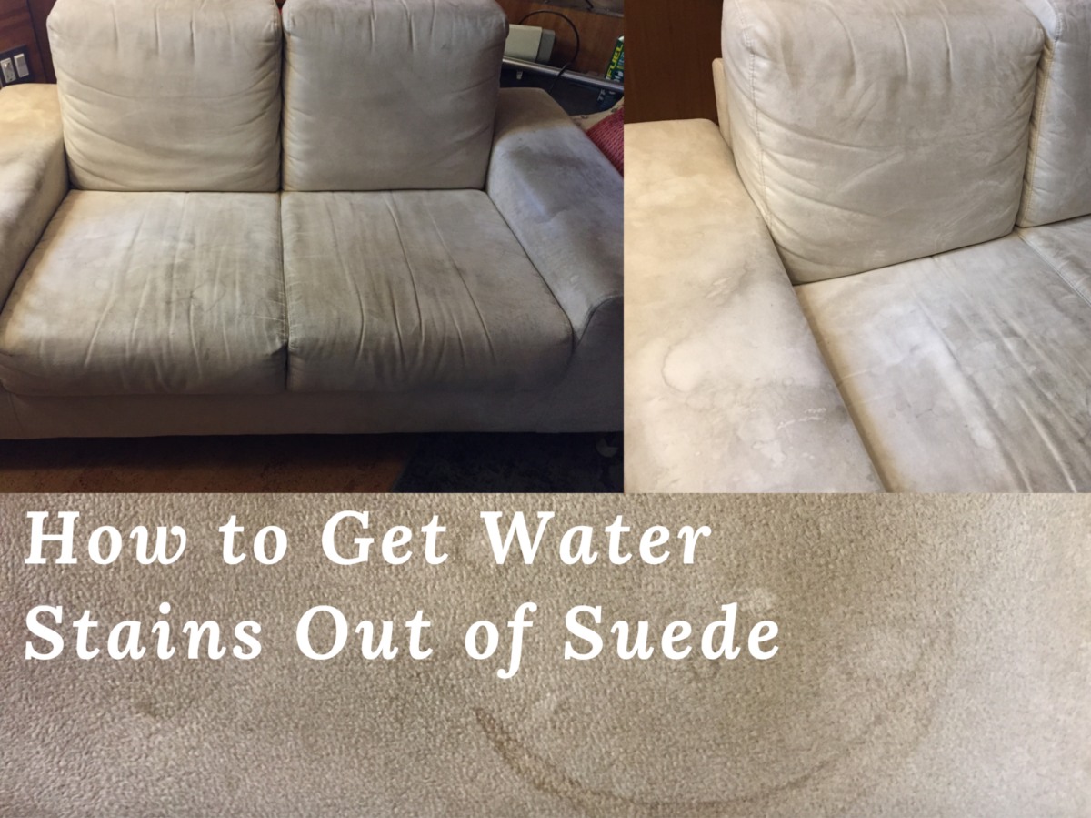 Water Stains From A Suede Sofa