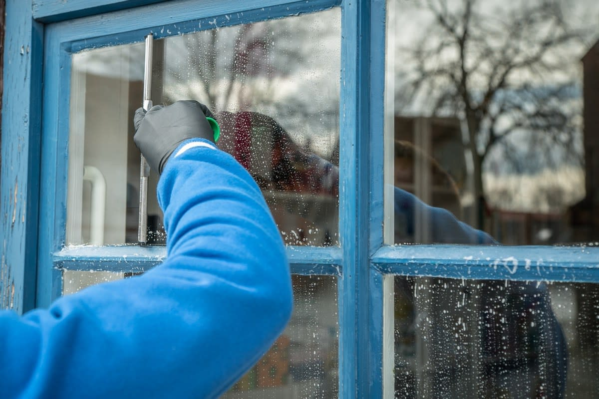 Once you've cleaned the exterior windows don't forget to do the inside for a sparkling clean appearance.