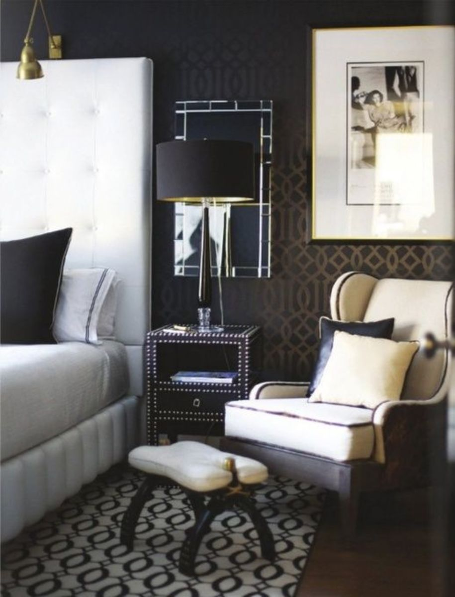 The bedroom requires ambient, accent and task lighting.