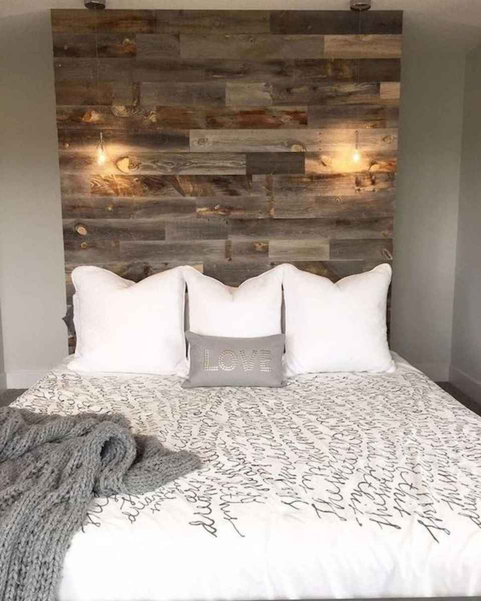 A DIY rustic headboard can be made on a budget.