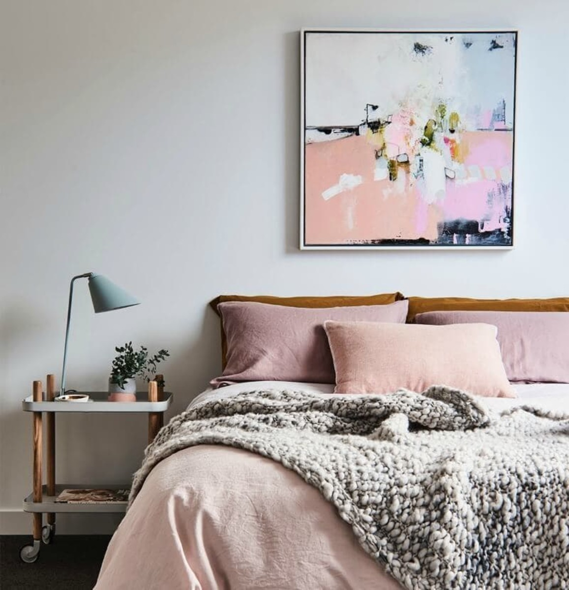 Coordinating colors within the artwork creates a compatible look and soothing feel.