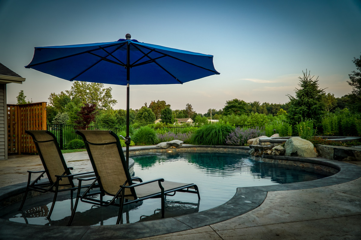 Take your pool to the next level by including plants that can soften the hard edge of the surrounding patio and pool coping.