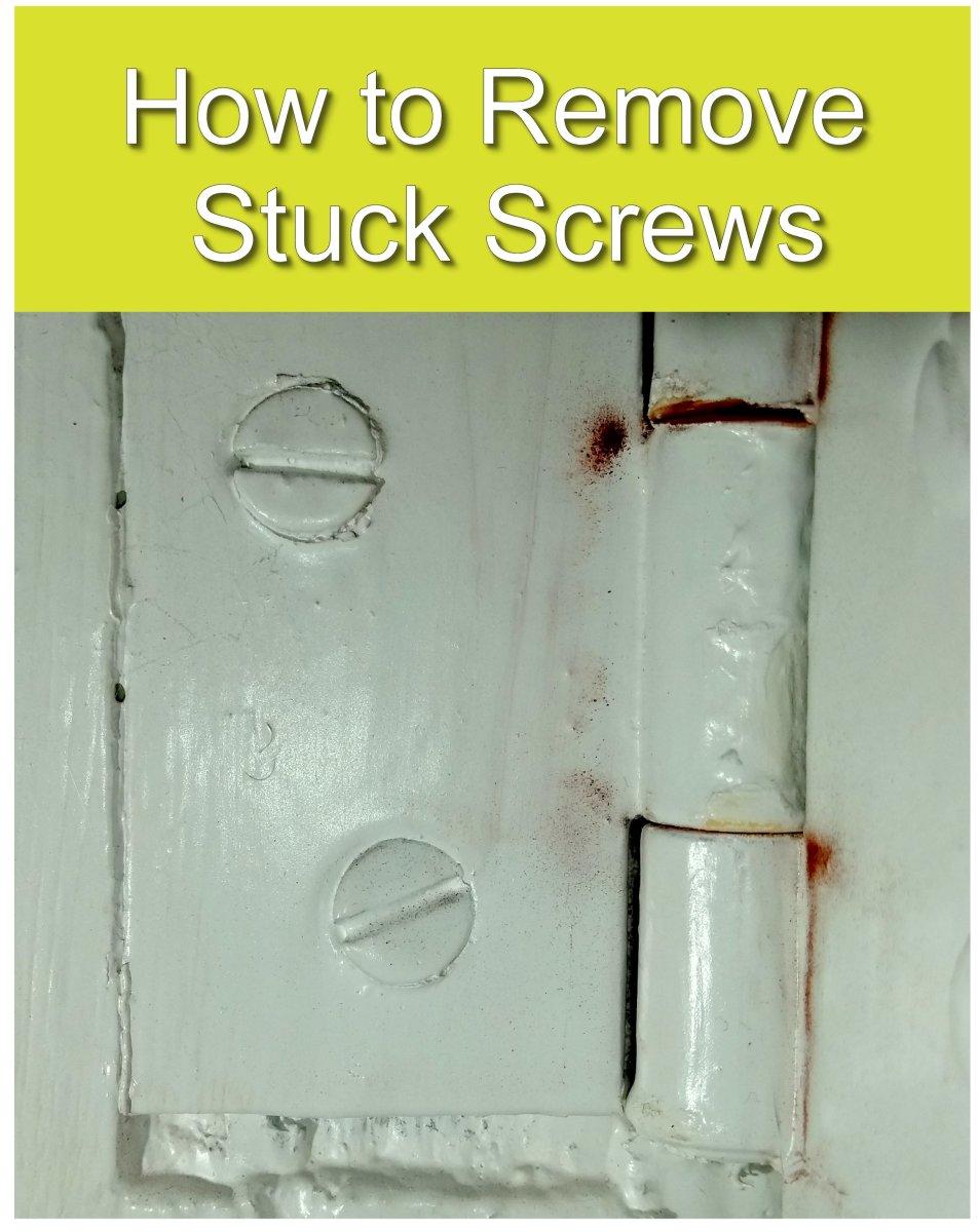 How to Remove Stuck Screws From a Door Hinge