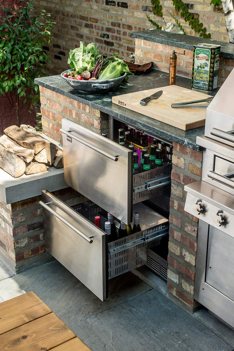 Refrigeration is a necessity for your outdoor kitchen.